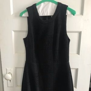 Black patterned madewell dress- size 4